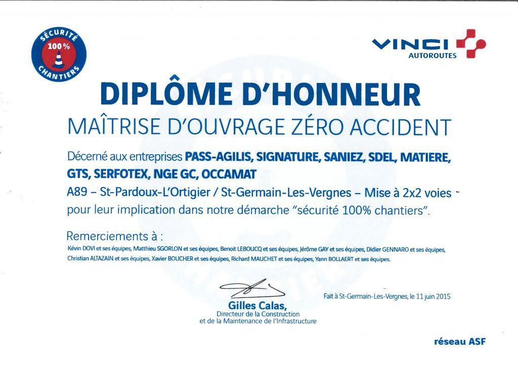 Diplome d'honneur